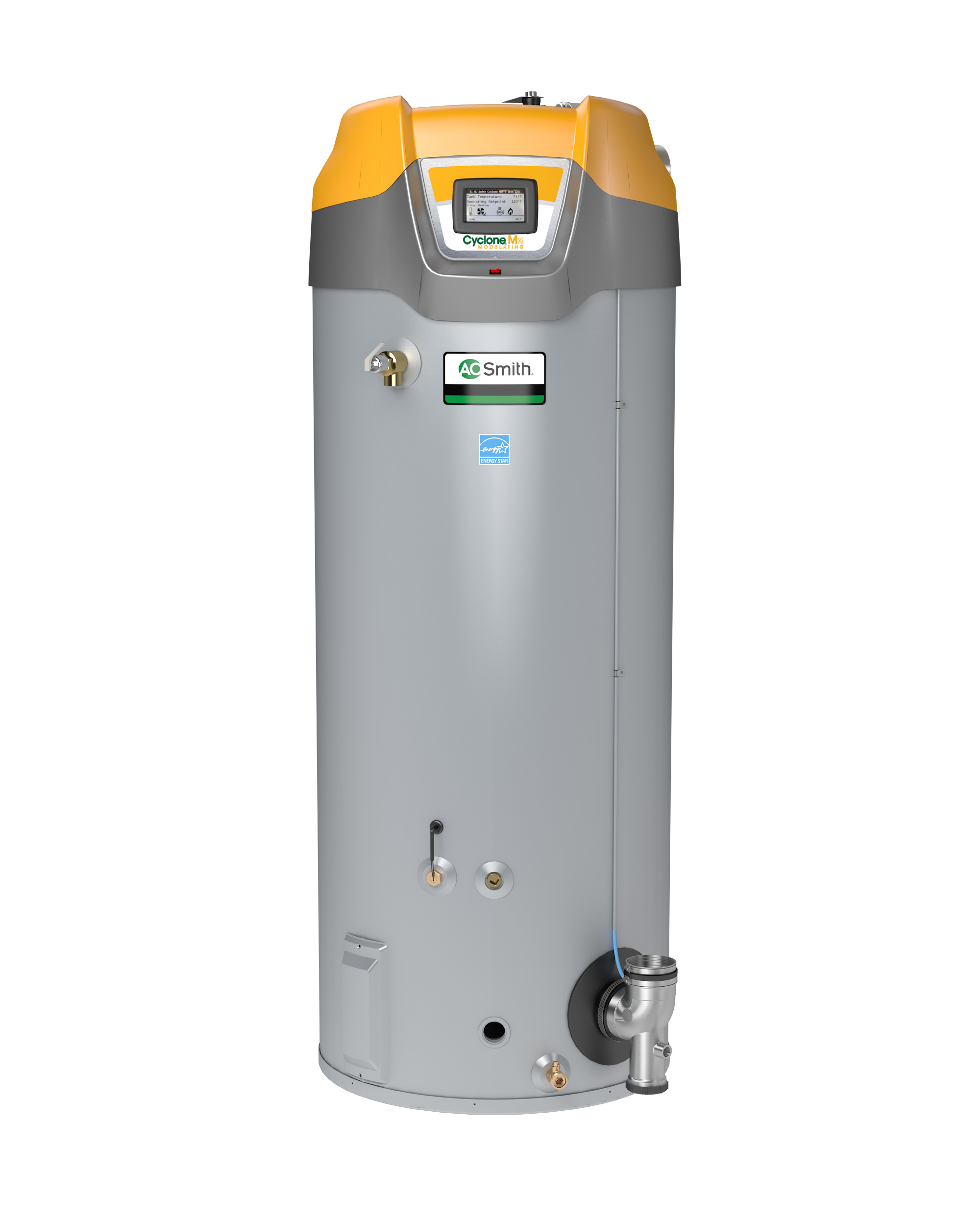 AO Smith BTH-120: 60 GALLON, 120,000 BTU, Cyclone Mxi, Commercial gas water heater, 3inch Vent, Up To 95% Thermal Efficiency, Natural Gas
