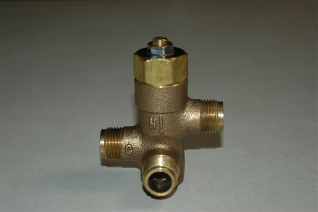 BRADLEY S67-571: THERMOSTATIC MIXING VALVE W/(2- EACH CHECK STOPS AND SS FLEX HOSE) USED BEFORE 2003
