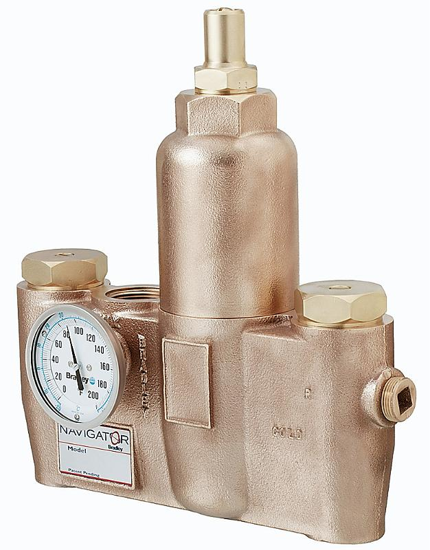 BRADLEY S19-2200: EFX-60,  60 GPM (2.0 -75.5 GPM) THERMOSTATIC MIXING VALVE, 1inch INLET X 1-1/4inch OUTLET, ROUGH BRASS-NO CABINET, APPROVED FOR EMERGENCY EQUIPMENT