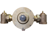 LEONARD LV-985-SW-LF-BDT-RF: THERMOSTATIC MIXING VALVE, LEAD FREE, 2inch INLET, 2inch OUTLET, 10 - 205 GPM, ROUGH FINISH, WITH CHECKSTOPS, BALL VALVE AND OUTLET DIAL THERMOMETER