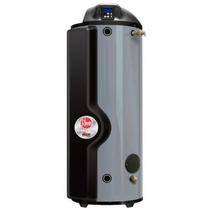RHEEM GHE100SS-130: 100 GALLON, 130,000 BTU, NATURAL GAS, FLEXIBLE VENTING, TRITON ULTRA HIGH-EFFICIENCY COMMERCIAL WATER HEATER WITH AUTO SHUT OFF VALVE IN CASE OF WATER LEAKAGE, 5 YEAR LIMITED TANK WARRANTY