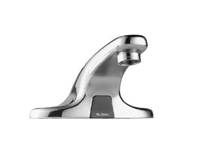 SLOAN 3315138, EBF-650-8-BDM: 0.5 GPM AERATOR, 8inch TRIM PLATE, BELOW DECK MIXING VALVE, BATTERY-POWERED, SENSOR OPERATED OPTIMA FAUCET