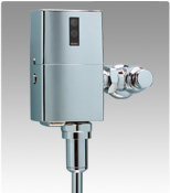 TOTO TEU1LA12#CP: FLUSH VALVE, URINAL .5 GPF, 3/4inch TOP SPUD, EXPOSED, SENSOR OPERTED, BATTERY POWERED (Replaces TEU1GNC-12)