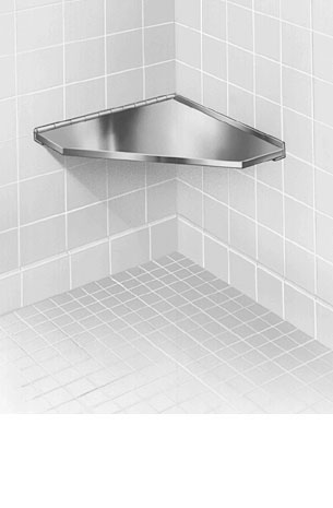 Bradley 9541 000000: Surface Mount, Stainless Steel, Fixed Corner Shower  Seat (