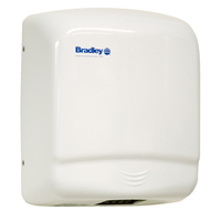 BRADLEY 2905-287300: AERIX HAND DRYER, SURFACE MOUNT, SENSOR-OPERATED, 120-VOLT, 1-PHASE, 13.6-AMPS, 60-HZ, WARM AIR, STEEL-WHITE EPOXY, WITH INTEGRAL NOZZLE, (NON-RETURNABLE, NON-REFUNDABLE)