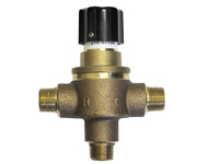 Leonard 270-LF: Hot Water Temperature Limiting Valve, Lead Free, 1/2inch Mips Inlet/Outlet, 0.25 - 7 Gpm, Rough Bronze Finish