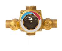LEONARD TM-26-LF-RF: THERMOSTATIC MIXING VALVE, LEAD FREE, 3/4inch INLETS, 3/4inch OUTLET (SWEAT X SWEAT), 1 - 26 GPM, ROUGH FINISH (replaced TM-20)