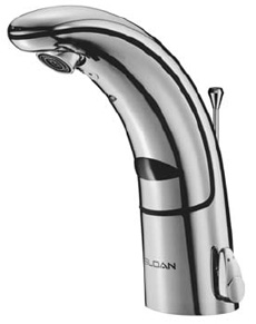 Sloan 3335000, EAF-150 CP: Lead Compliant, 2.2 GPM Aerated Sprayhead, Battery-Powered-6 Vdc Lithium, Electronic Lavatory Faucet