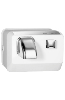SLOAN 3366010, EHD-301: WHT, OPTIMA HAND DRYER-WHITE, PUSH BUTTON, 110/120 VOLT, SURFACE MOUNT, ROTATING NOZZLE